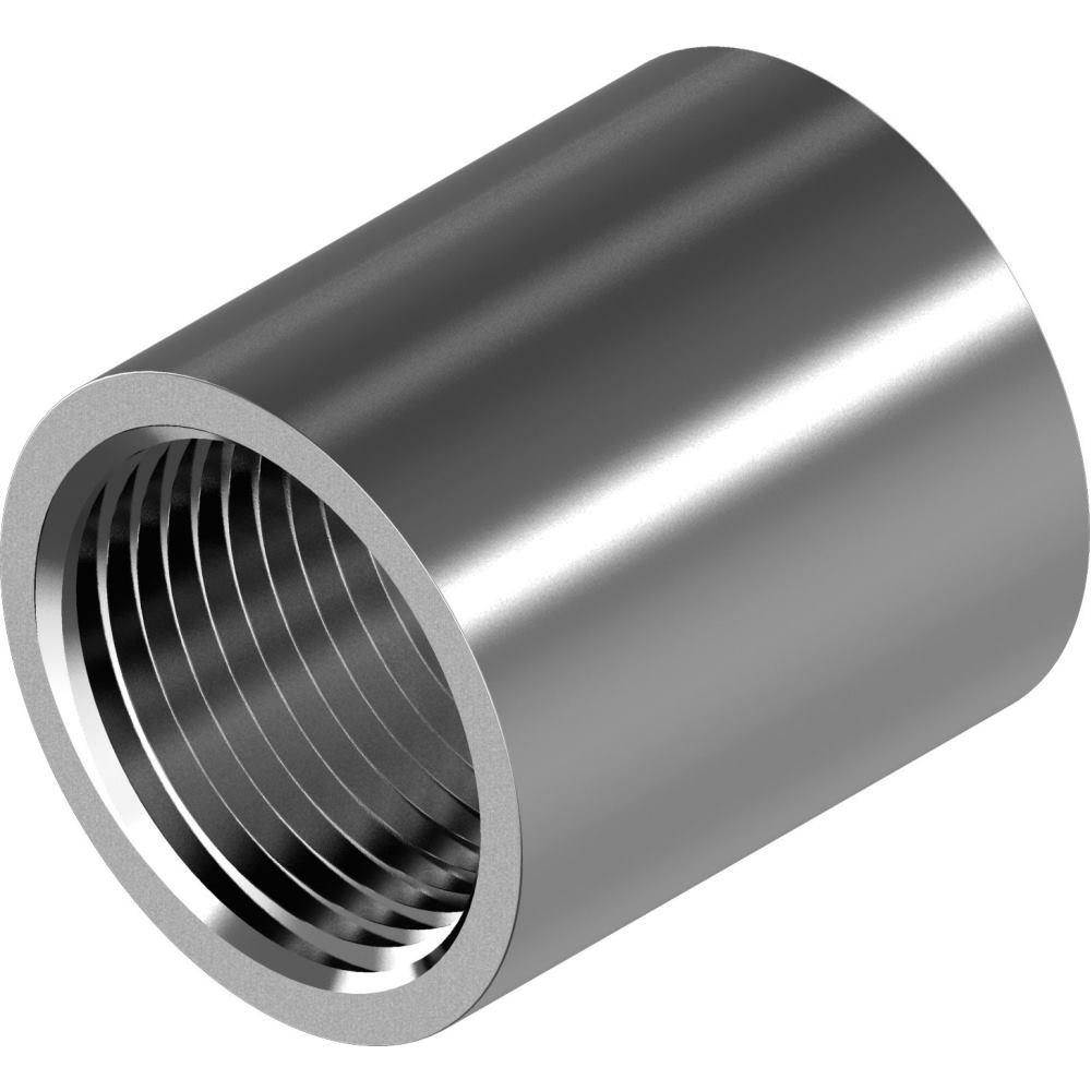 - M12x30 D/´s Items/® Abstandshalter Edelstahl A2 - Verbindungsmuffen 2 St/ück Gewindemuffen in runder Ausf/ührung V2A Rundmuffen