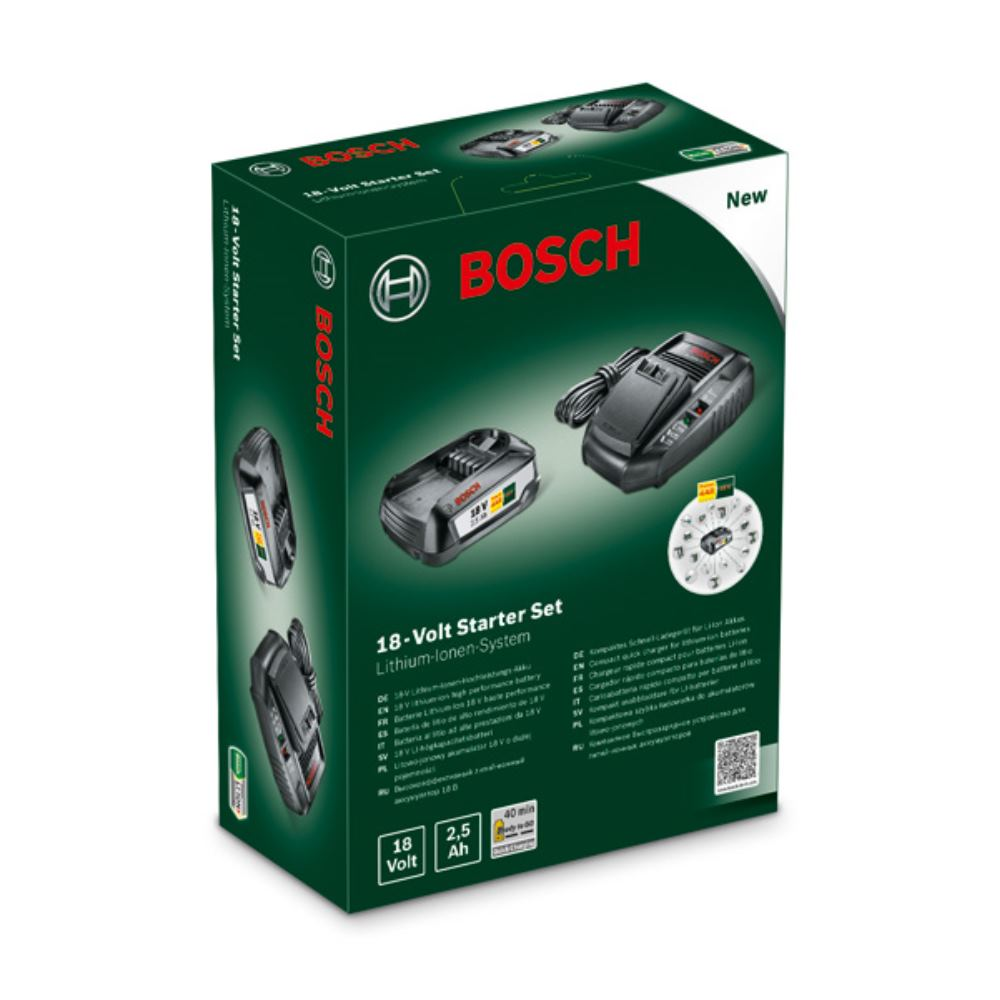 bosch akku ladeger t akku starter set 18 volt f r bosch. Black Bedroom Furniture Sets. Home Design Ideas