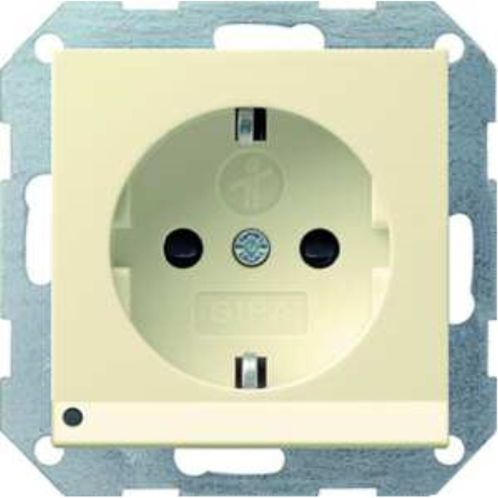 Gira Schuko-Steckdose cws-gl mit LED-Beleuchtung 117001