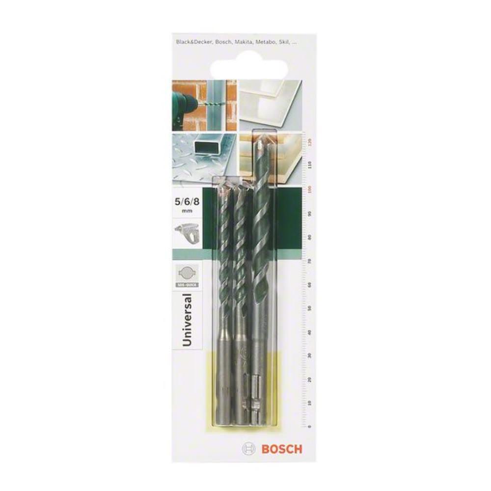 Mehrzweckbohrer-Set SDS-Quick, 3-teilig, 5 x 100,