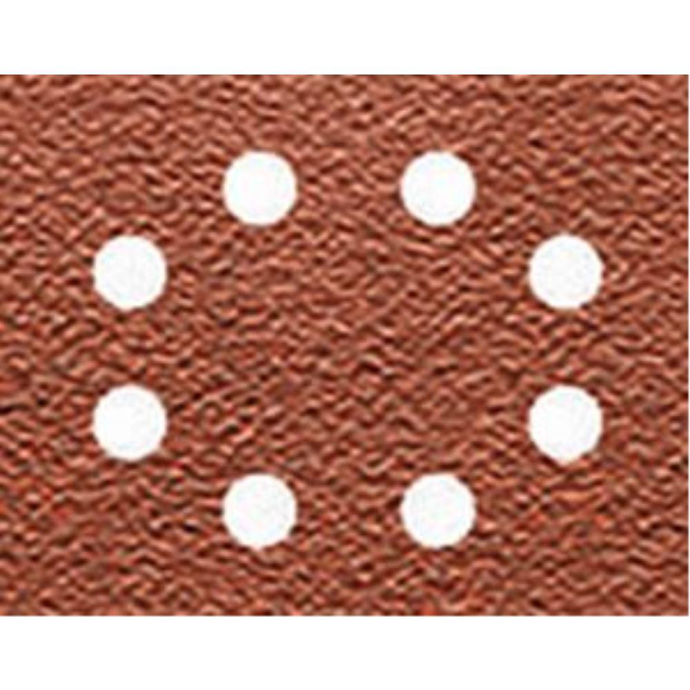 DeWalt Schleifpapier 115 x 140mm K40, Mehrzwec DT3001 rbe - Trockenschliff - gelocht (8 Loch ringförmig) DT3001-QZ