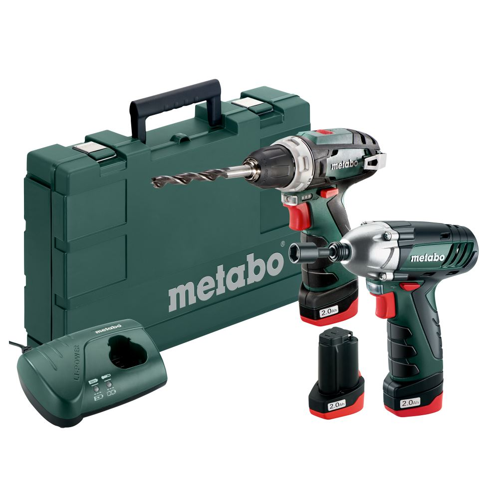 metabo akkuschrauber akku schlagschrauber set 10 8 volt 3 akkus bs ssd ebay. Black Bedroom Furniture Sets. Home Design Ideas