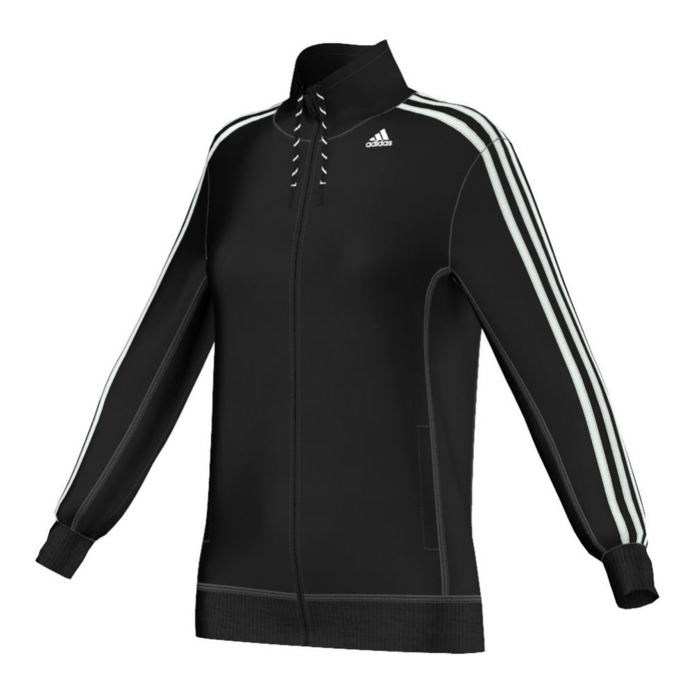 Adidas ESS 3S Tracktop Trainingsjacke black, white  - GR: S