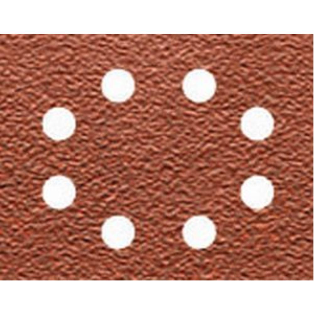 DeWalt Schleifpapier 115 x 140mm K60, Mehrzwec DT3002 rbe - Trockenschliff - gelocht (8 Loch ringförmig) DT3002-QZ