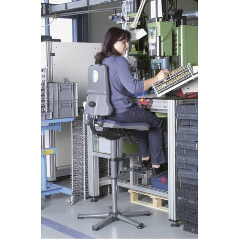 Arbeitsstuhl Sintec mit Gleiter und Aufstieg