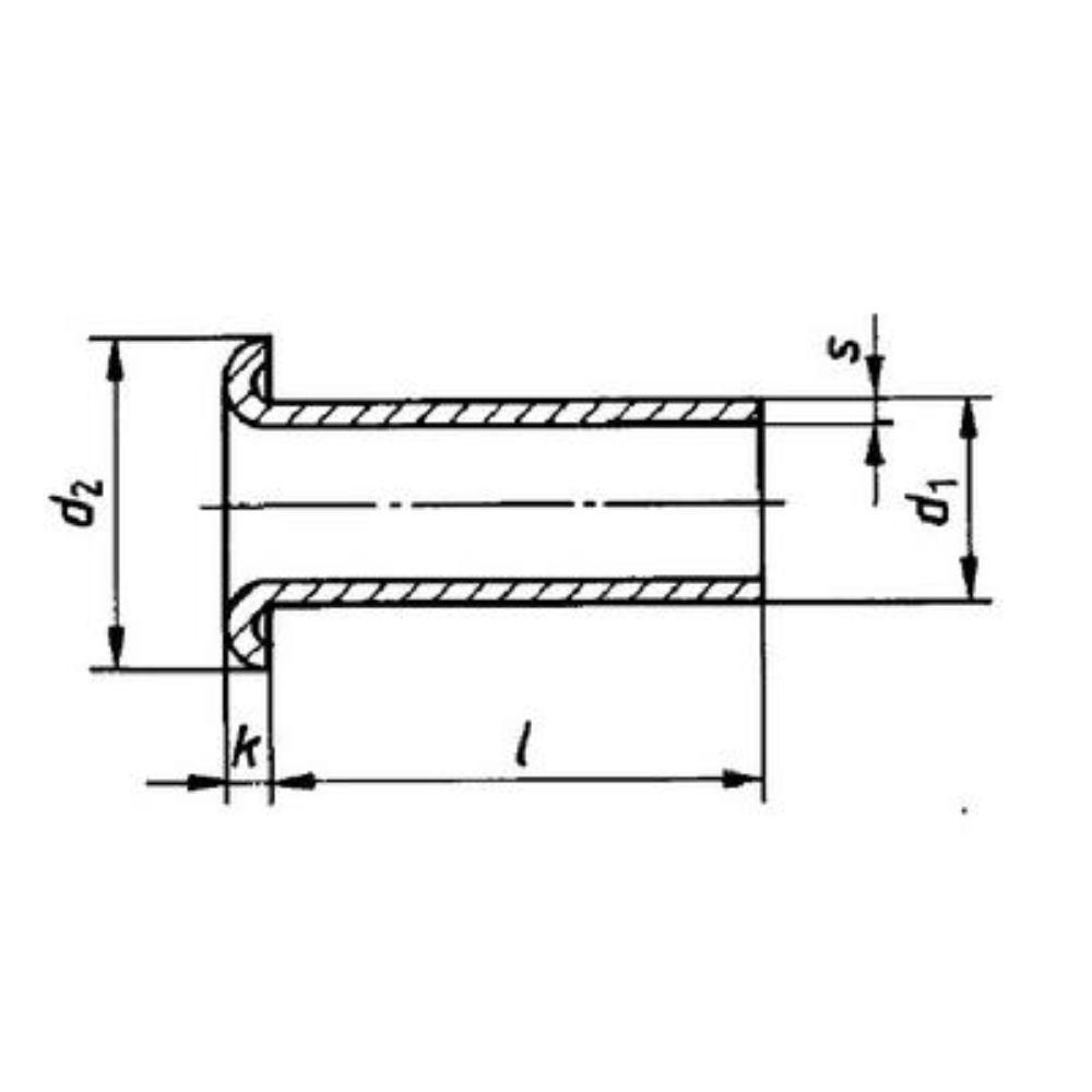 Rohrniet Form B DIN 7340 Messing  3 x 0,3 x 45   5 000 Stück