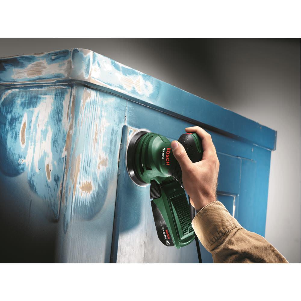 bosch exzenterschleifer pex 220 a 220 watt 125 mm schleiftellerdurchmesser 3165140327879 ebay. Black Bedroom Furniture Sets. Home Design Ideas