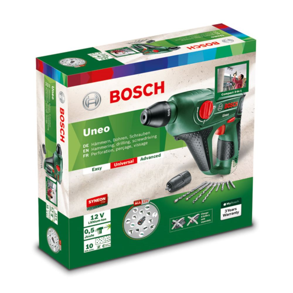 bosch 12 volt akku bohrhammer uneo ohne akku ohne ladeger t ebay. Black Bedroom Furniture Sets. Home Design Ideas