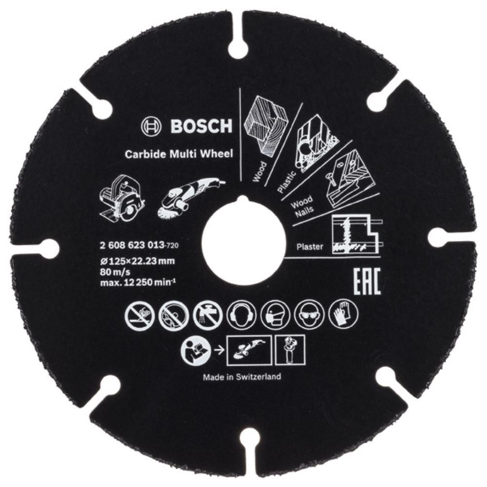 Winkelschleifer Bosch Trennscheibe Hartmetall Multi Wheel 125 mm f