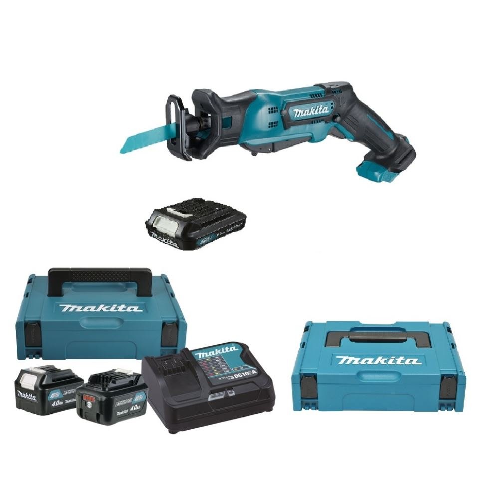 makita 10 8v akku recipros ge jr103dy1j mit 3 akkus 2x 4 0ah 1x 1 5ah akku ebay. Black Bedroom Furniture Sets. Home Design Ideas