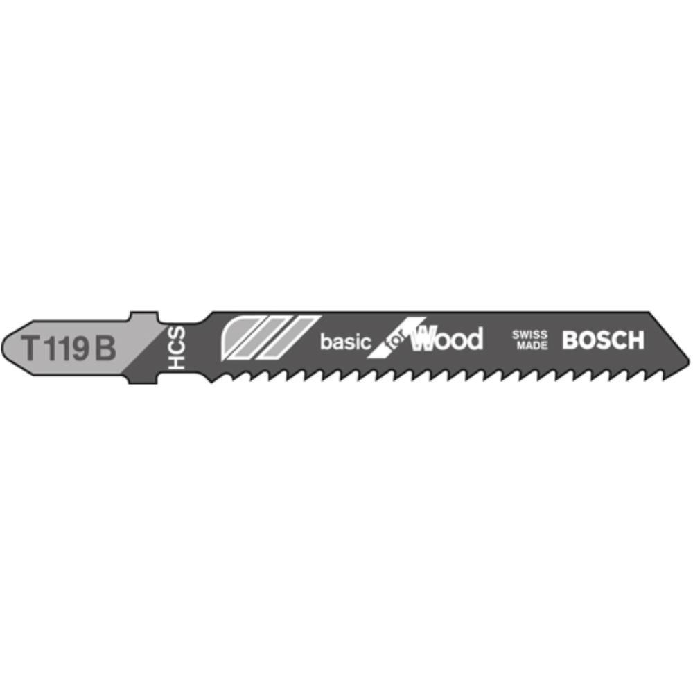 Bosch Professional 2608630037 Stichsägeblatt 5 Stichsägeblätter T 119 B