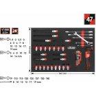 V45893/3+ Weichschaumeinlage Steckschlüssel-Einsatz-, Winkelschraubendreher,-Ratschen-Ring-Maulsch