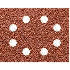 Schleifpapier 115 x 140mm K60, Mehrzweck - Holz/Farbe - Trockenschliff - gelocht (8 Loch ringförmig) DT3012