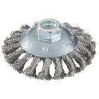 Rundbürste 115x0,5x10 mm/ M14, Edelstahl, gezopft ()