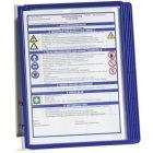 Wandsichttafel-System inkl. 5 Sichttafeln aus Polypropylen für Format DIN A4, Farbe blau 500