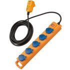 Super-Solid SL 544 D FI IP54 Steckdosenverteiler 5-fach 5m H07RN-F 3G1,5
