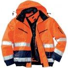 3-in-1 Warnschutzjacke EN 20471 Klasse 3 beim Tragen mit Ärmeln / EN 343 (3/1) warnorange blau | M