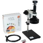 Makroskop, Zoomobjektiv, Vergrößerung 7 - 45-fach,inkl Basispaket pixel-fox