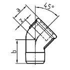 Gewindefitting Winkel 45 ° EN10242 Temperguss feuerverzinkt 1,5 inch 36 mm  10 Stück