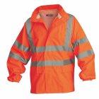 Warnschutz-Regenjacke Klasse 3 orange Gr. M