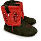 Fluffy Westernstiefel rot schwarz