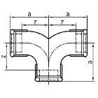 Gewindefitting Doppelbogen EN10242 Temperguss feuerverzinkt  3/4 ZO 50 mm  1 Stück