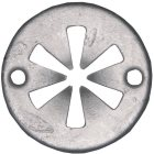 Klemmring Zink-Lamelle silber 5 x 30 mm  200 Stück