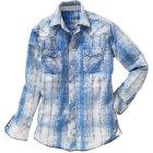 Springdale Hemd blau weiß | 4XL
