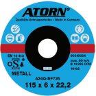 Schruppscheibe für Metall 125x6x22 mm Harte Scheib e