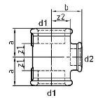 Gewindefitting T-Stück EN10242 Temperguss feuerverzinkt 1/2 inch 38 mm  10 Stück
