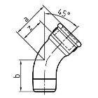 Gewindefitting Bogen lang EN10242  Temperguss feuerverzinkt   1 ZO 51 mm   10 Stück