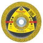 Schruppscheibe, EXTRA T, A 24, gekröpft, Abm.: 180x8x22,23 mm