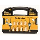 12-tlg. EXTREME DEWALT® BI-Metall Lochs DT8271 x Schnellspanndorn klein, 1x Schnellspanndorn groß
