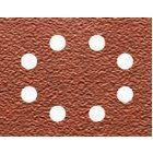 Schleifpapier 115 x 140mm K150, Mehrzweck - Holz/Farbe - Trockenschliff - gelocht (8 Loch ringförmig) DT3005
