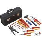 Werkzeugkoffer VDE - Werkzeugsatz in Ledertasche,17-teilig
