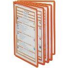 Klarsichttafeln, einzeln Farbe: orange, VE = 5 Stück für Format DIN A4