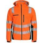 Warnschutz-Softshelljacke EN 20471 Klasse 2 warnorange schwarz | XXL