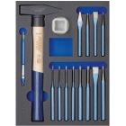 Modul-Hartschaum-Einlage Hammer+Meißel 15-teilig