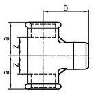 Gewindefitting T-Stück EN10242 Temperguss feuerverzinkt 0,75 inch x 3/4 ZO  5 Stück