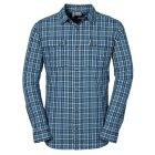Jack Wolfskin Crossley Langarmhemd moroccan blue checks