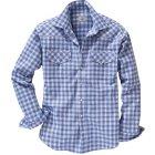 Fairbanks Flanellhemd blau weiß | L