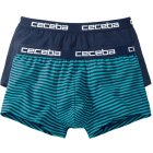 Ceceba Retroshorts 2er Pack türkis blau | 007