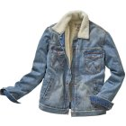 Wrangler Winterjeansjacke blue denim | L