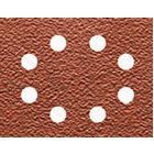 Schleifpapier 115 x 140mm K40, Mehrzweck - Holz/Farbe - Trockenschliff - gelocht (8 Loch ringförmig) DT3001