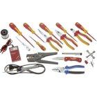 Werkzeugsatz Elektriker VDE Schraubendreher, VDE Zangen, Lötkolben, Stiftleuchte, DUTEST 52561