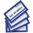 Beschriftungsrahmen magnetisch 80 x 45 mm blau mag