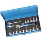 1/4Zoll Steckschlüsselsatz 17-tlg.TX 8 bis 40 Innensechskant 3 bis 8 mm