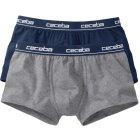 Ceceba Retroshorts 2er Pack marine grau | 005