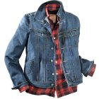 King Kerosin Speedjack Bikerjacke blue stonewashed | 3XL