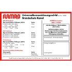 FLAMRO 14000 Universalkennzeichnungsschild